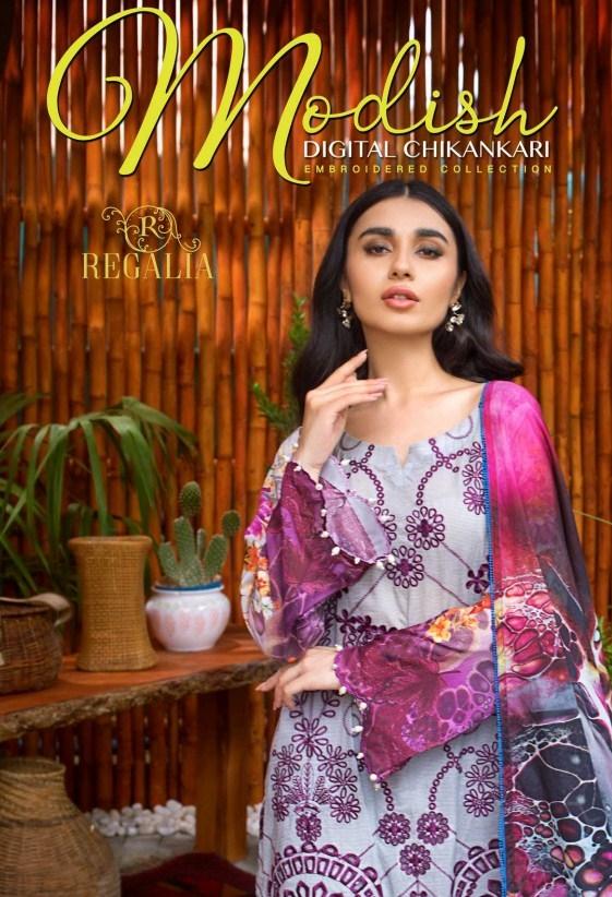 Modish Chikankari By Regalia Textile'21