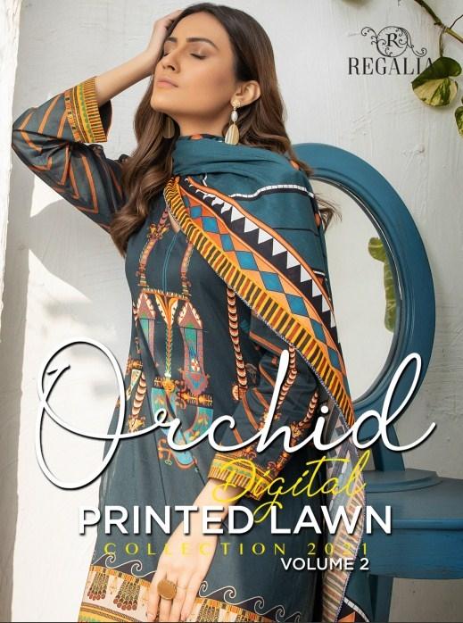 Orchid Digital Printed Lawn'21 VOL02