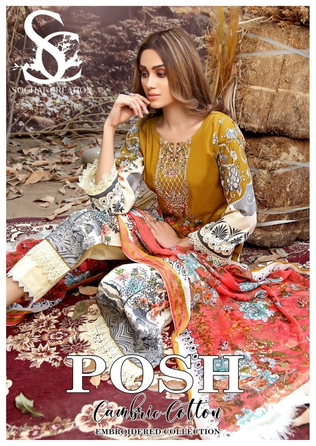 Posh Cambric Cotton By Soghat Creation'20