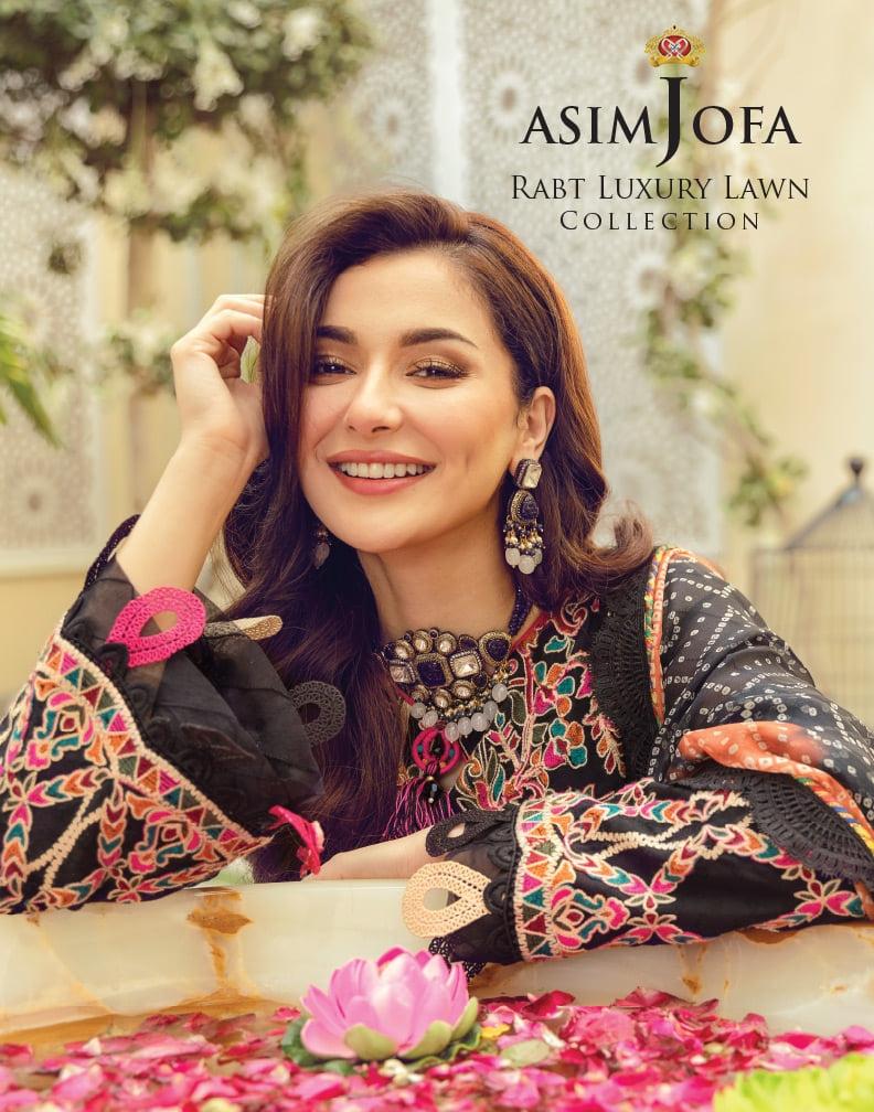 Asim Jofa Rabt Luxury Lawn'21