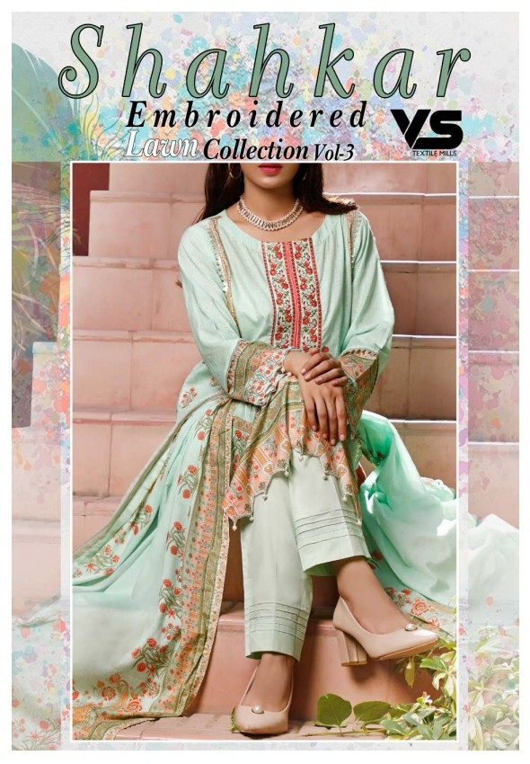 Shahkar Embroidered Lawn Collection'21