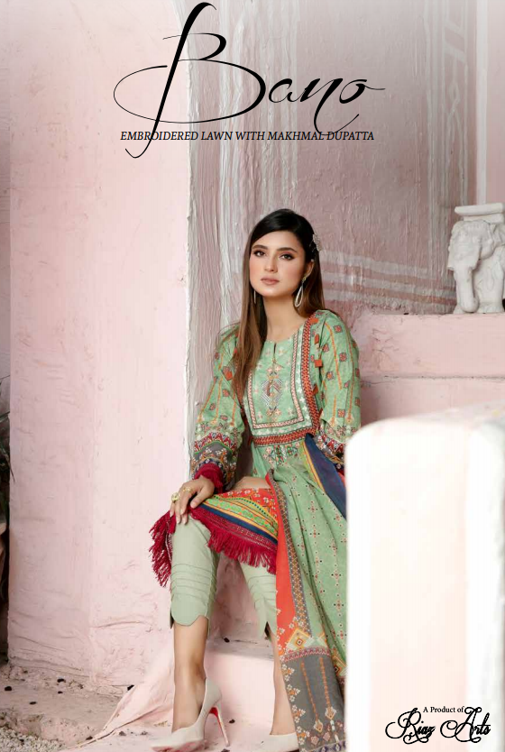 Bano Embroidered Lawn'21