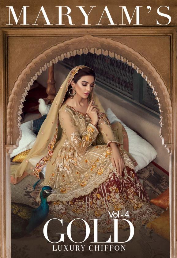 "Maryam's Gold Luxury Chiffon""19 VOL-4"