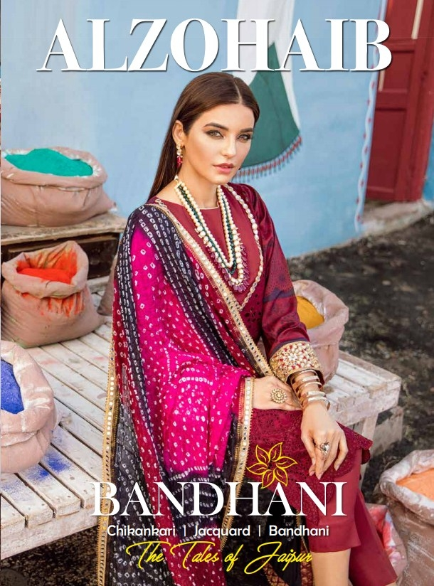 "Al Zohaib 'Bandhani"" Collection'20"